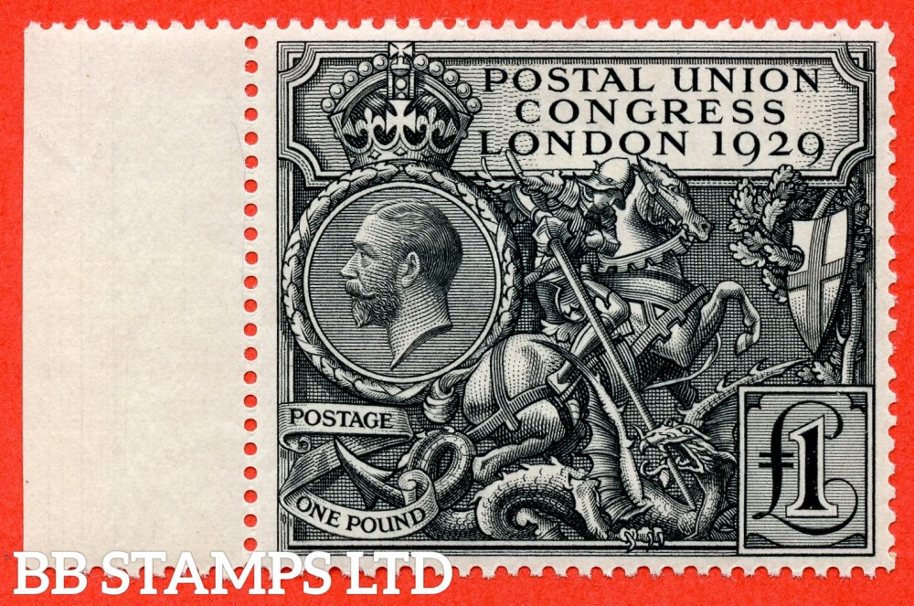 SG. 438. NCom9. £1.00 Postal Union Congress. A fine UNMOUNTED MINT left hand marginal example.