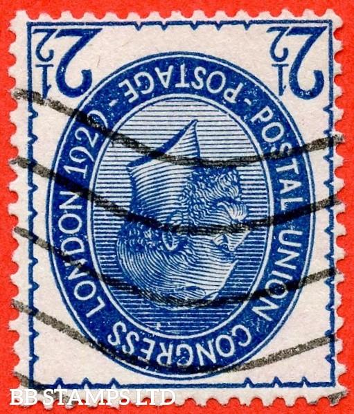 SG. 437 wi. NCom8 (1) a. 2½d Blue. A fine used example of this very scarce INVERTED WATERMARK variety.