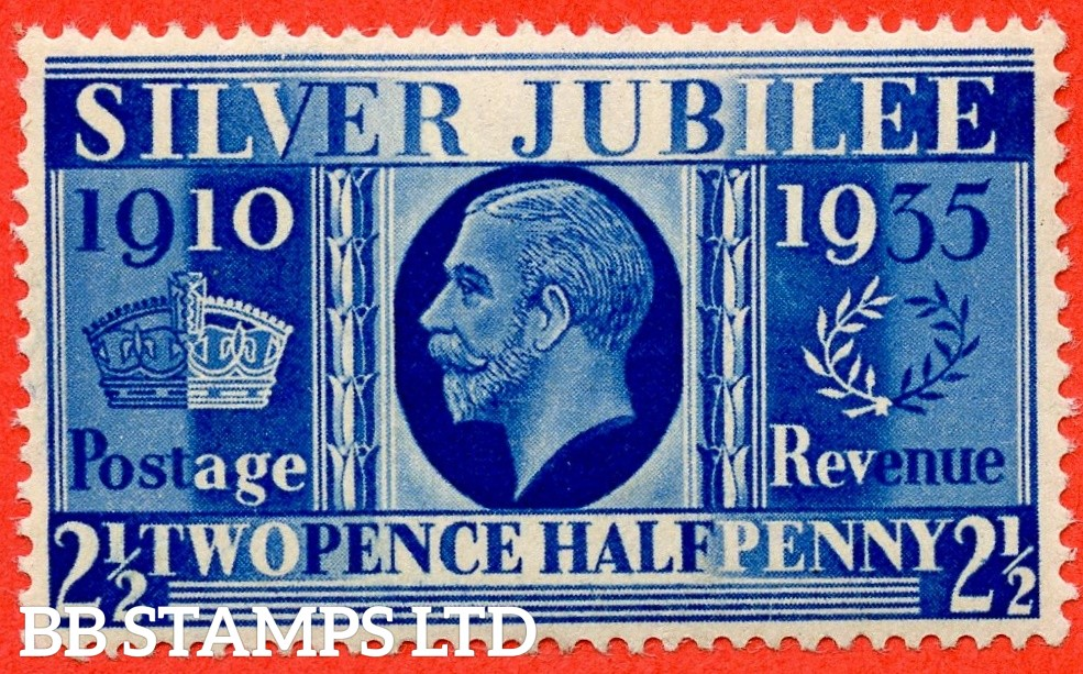 "SG. 456a. 2½d Silver Jubilee "" Prussian Blue "".  A Superb UNMOUNTED MINT example of this difficult George V shade ERROR complete with BPA certificate. A very rare stamp in this quality."