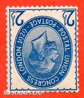 SG. 437wi. NCom8 (1) a. 2½d Blue. INVERTED WATERMARK. A Superb UNMOUNTED MINT example of this very scarce George V variety.