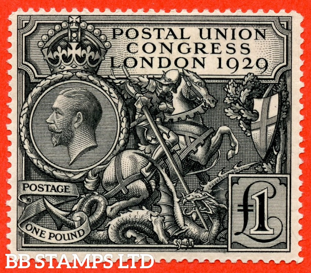 SG. 438. NCom9. £1.00 Postal Union Congress. A fine mounted mint example