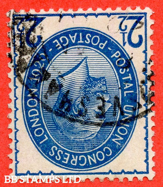 SG. 437wi variety NCom8 (21) a. 2½d Pale Blue. INVERTED WATERMARK. A very fine CDS used example of this very scarce George V variety.