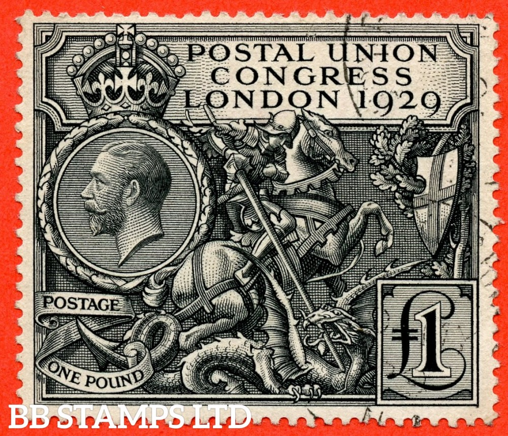 SG. 438. NCom9. £1.00 Postal Union Congress. A very fine used example.