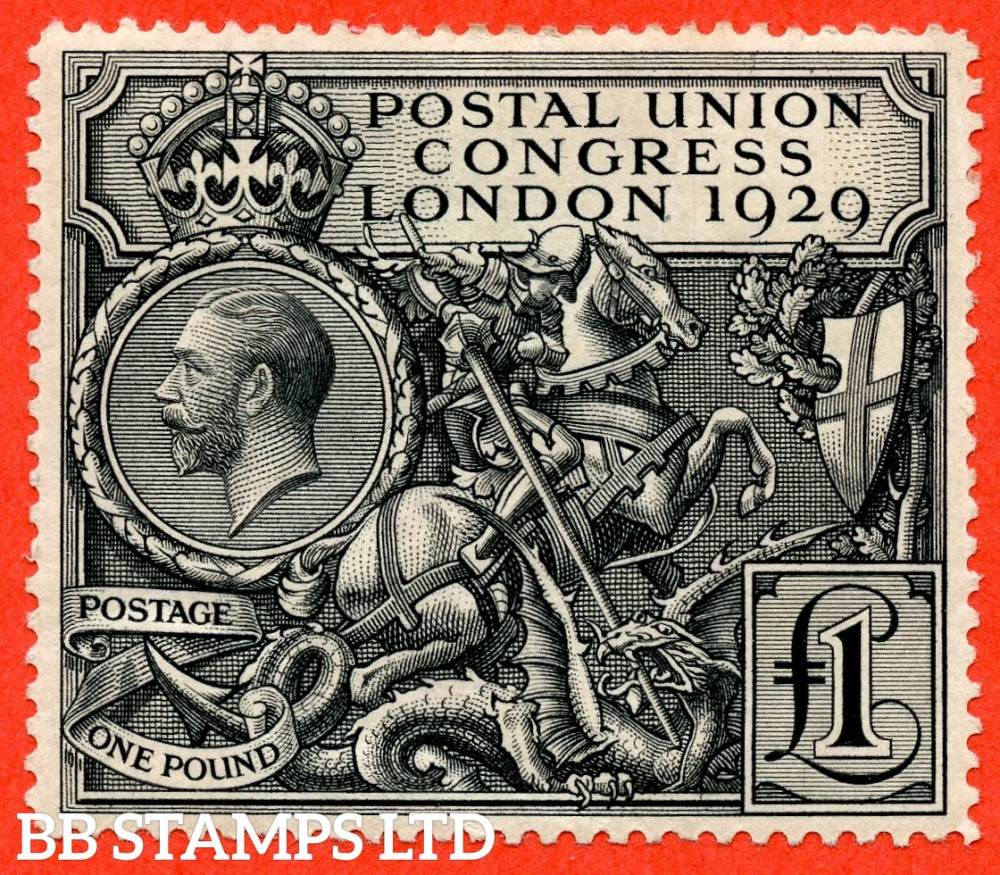 SG. 438. NCom9. £1.00 Postal Union Congress. A fine mounted mint example.