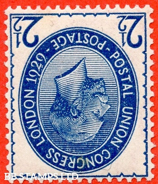 SG. 437 wi. NCom8 (1) a. 2½d Blue. INVERTED WATERMARK. A Superb UNMOUNTED MINT example of this very scarce George V variety.