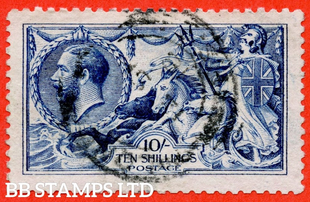 SG. 411. Variety N70 (8). 10/- Deep blue ( worn plate ). A fine CDS used example.