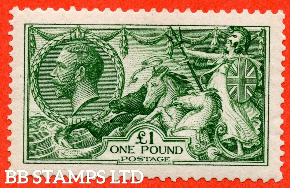 SG. 403. N72 (1). £1.00 Green. A superb UNMOUNTED MINT example with RPS Certificate.