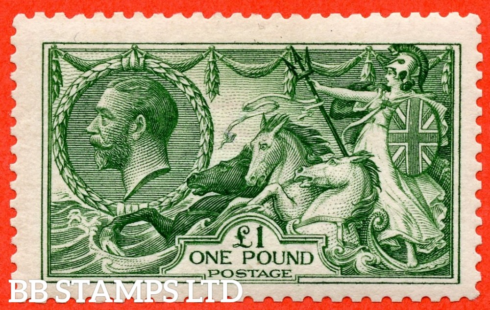 SG. 403. N72 (2). £1.00 Deep green. A fine UNMOUNTED MINT example of this beautiful George V high value.