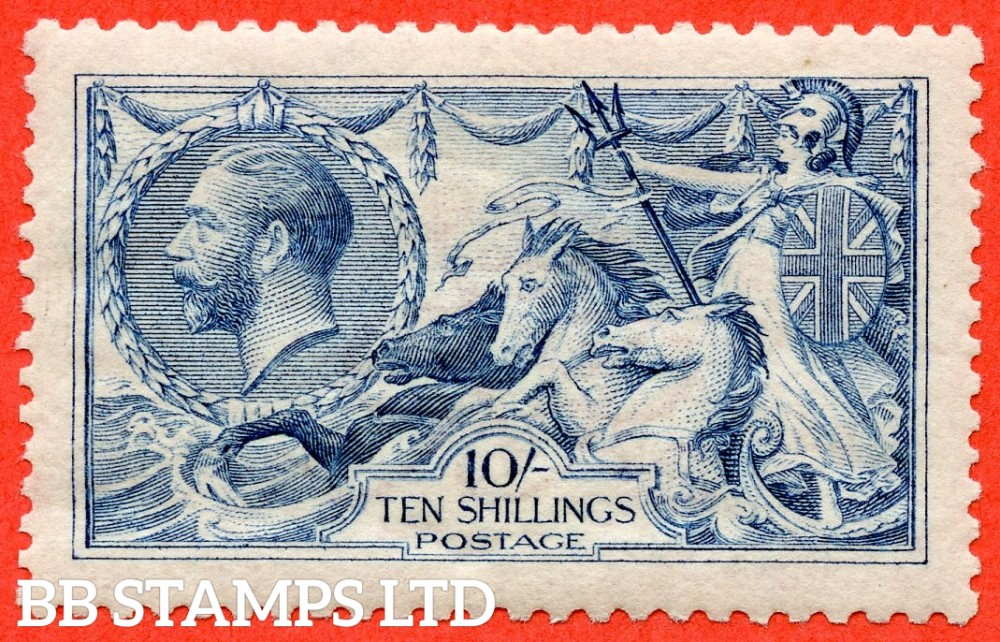 SG. 413. N70 (4) 10/- Pale - Blue. A very fine UNMOUNTED MINT example of this difficult stamp.