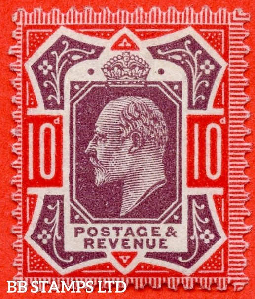SG. 310. M44 (5). 10d Purple & Aniline Pink. A super UNMOUNTED MINT example of this scarce Edwardian shade complete with RPS certificate.