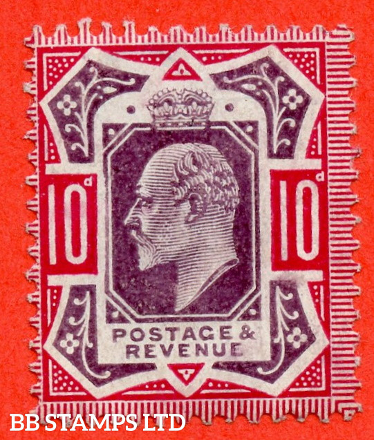"""SG. 255a. M43 (2) b. 10d slate purple & carmine ©. """" No Cross on Crown. A Superb UNMOUNTED MINT example complete with RPS certificate."""