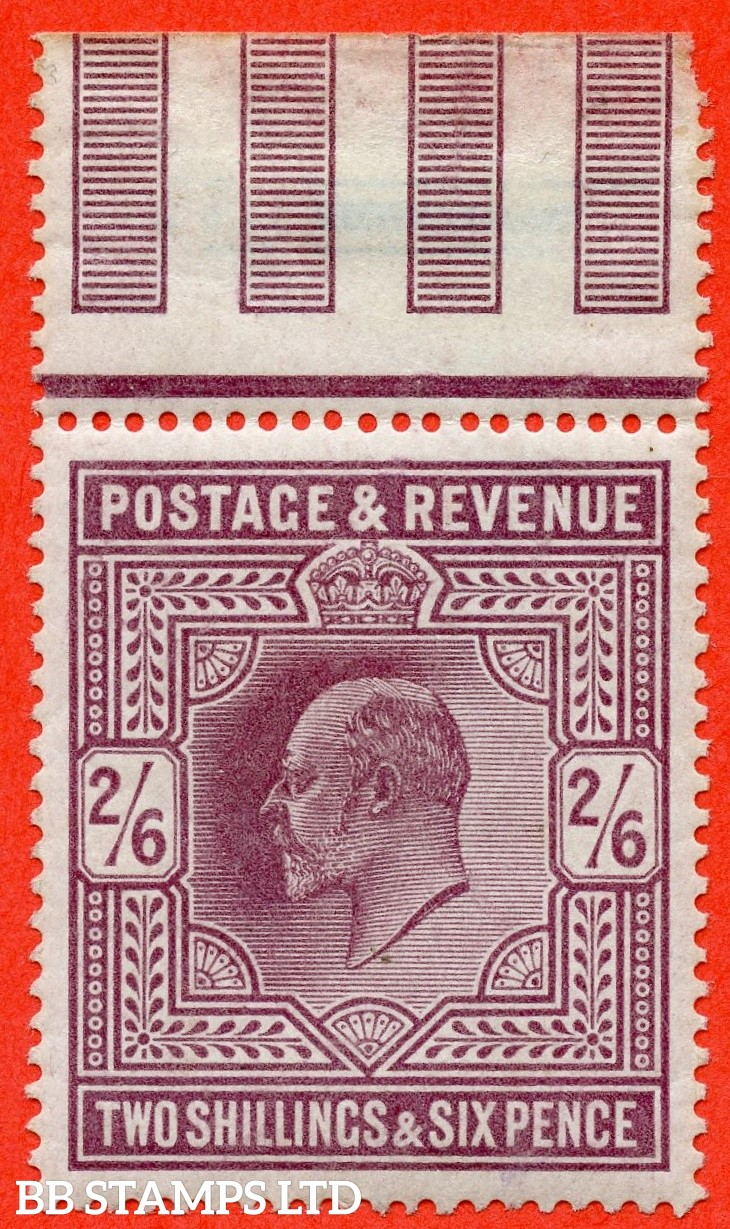SG. 316. M50 ( 2 ) 2/6 Dull Reddish Purple. A very fine UNMOUNTED MINT top marginal example.