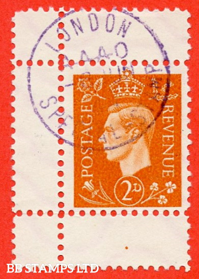 """SG. 465. 2d Orange. """" GERMAN PROPAGANDA FORGERY """". A superb used example of this famous wartime forgery produced at the Sachsenhausen Concentration Camp."""