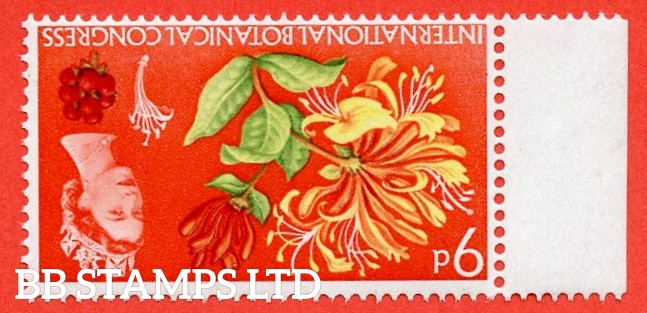 SG. 657wi. 9d 1964 Botanical.  INVERTED WATERMARK. A super UNMOUNTED MINTleft hand marginal example.