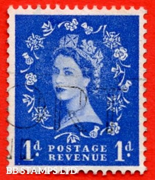 "SG. 588 b. 1d ultramarine. A super Fine Used example with the listed variety "" THREE GRAPHITE LINES ""."