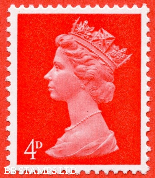 "SG. 733 Ey. 4d bright vermilion. MISSING PHOSPHOR "". A super UNMOUNTED MINT example."