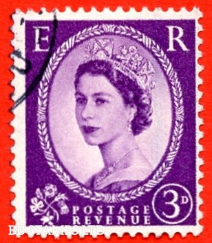 "SG. 592 c. 3d Deep - lilac. "" Misplaced Graphite lines "". A very fine used example."