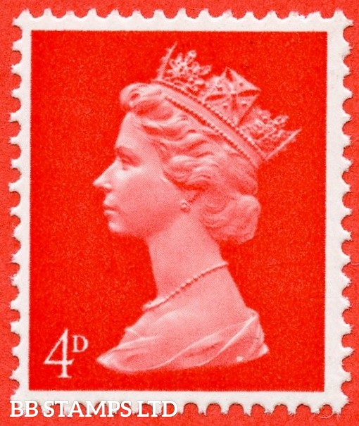 """SG. 733 Ey. 4d bright vermilion. MISSING PHOSPHOR """". A super UNMOUNTED MINT example."""