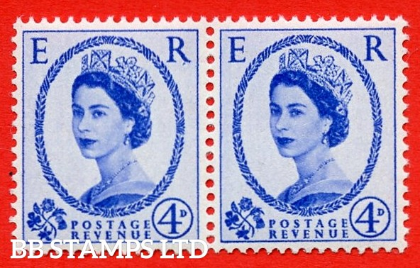 "SG. 521. S81b. 4d Ultramarine. A superb UNMOUNTED MINT "" cylinder 1 No dot "" control block of 2. Variety Dotted ""R"" (Cyl. 1 No dot, R.10/8."