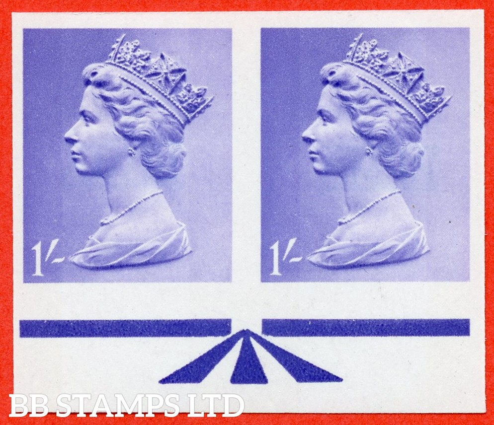 SG. 742. 1/- light bluish violet. IMPRIMATUR. A super UNMOUNTED MINT horizontal pair each with BPMA handstamp on reverse.