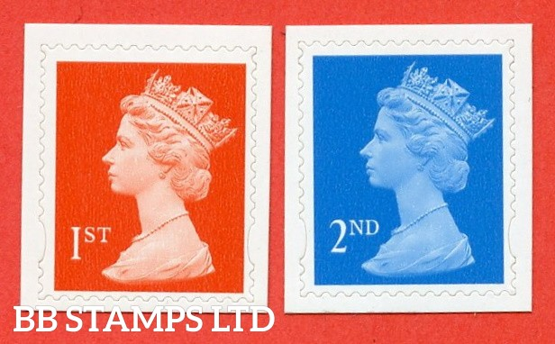 "SG. 2039b & 2040b. 2nd & 1st Class "" Dagger Perfs "". Perf 14½ x 14 die - cut ( 22/06/98 ). A Superb UNMOUNTED MINT pair of these very scarce and underrated modern perf ERRORS."