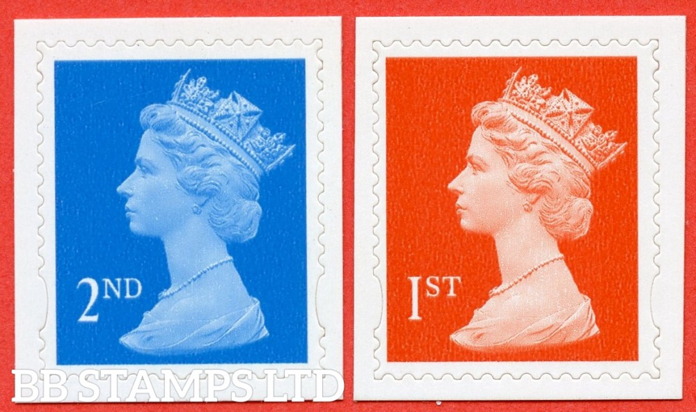 "SG. 2039b & 2040 b. 2nd & 1st Class "" Dagger Perfs "". Perf 14½ x 14 die - cut ( 22/06/98 ). A Superb UNMOUNTED MINT pair of these very scarce and underrated modern perf ERRORS."