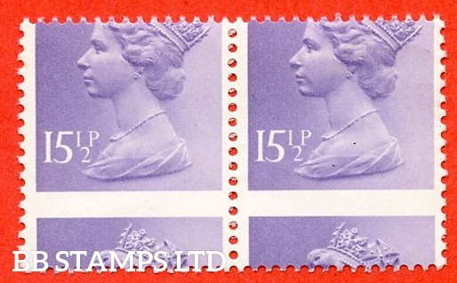 SG. X948. 15½p pale violet. A superb UNMOUNTED MINT MISPERF ERROR horizontal pair.