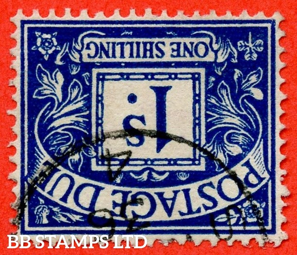 SG. D17 wi. R17 a.1/- deep blue. INVERTED WATERMARK. A very fine CDS used example of this scarce watermark variety.