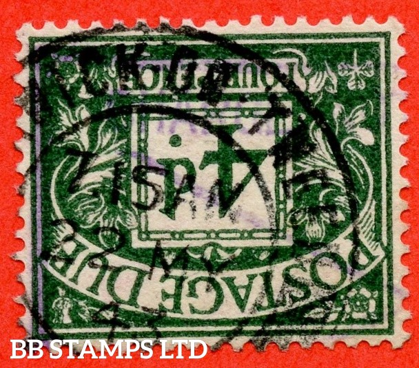 SG. D31 wi. R15 a. 4d dull grey - green. INVERTED WATERMARK. A very fine CDS used example of this scarce GVI watermark variety.