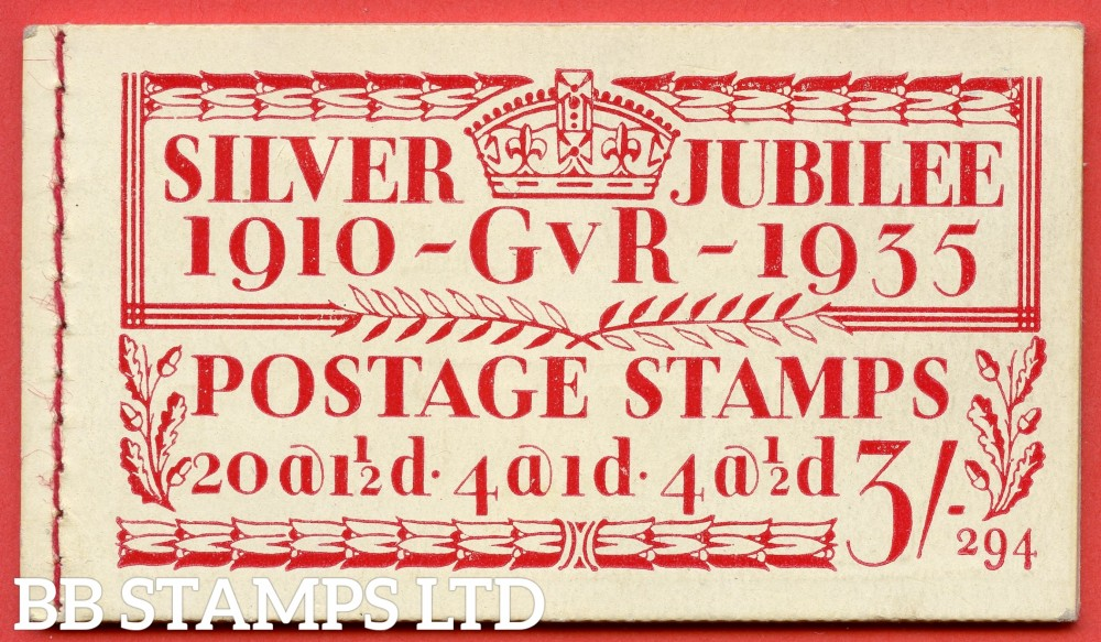 """SG. BB28. """" 3/- """". Edition number 294. A very fine complete example of this popular 1935 Silver Jubilee booklet."""