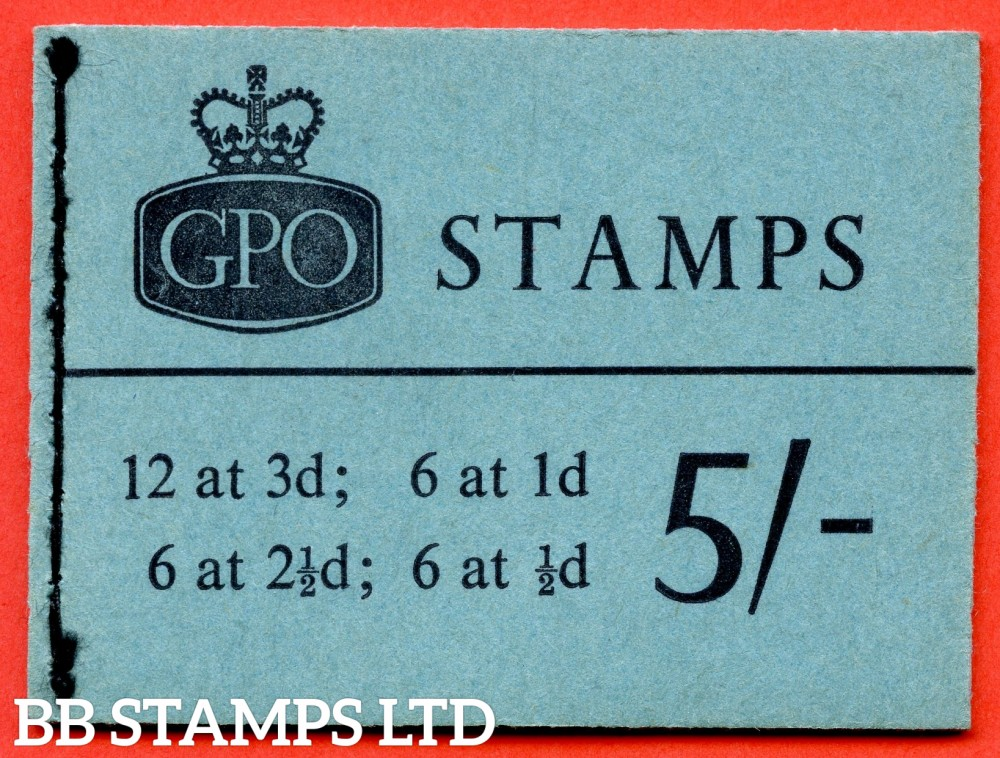 SG. H52p. 5/- Booklet. September 1961. PHOSPHOR. A very fine complete example of this scarce QEII booklet.