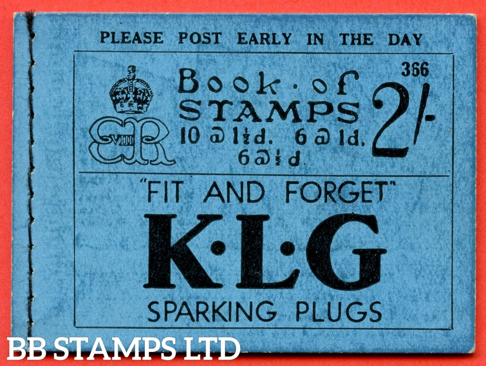 "SG. BC2. "" 2/- "". Edition Number 366. Edward VIII. A very fine example of this Edward VIII booklet containing the PB5 ( 15 ) "" Come on the telephone / Airmails letters and parcels "" pane.."