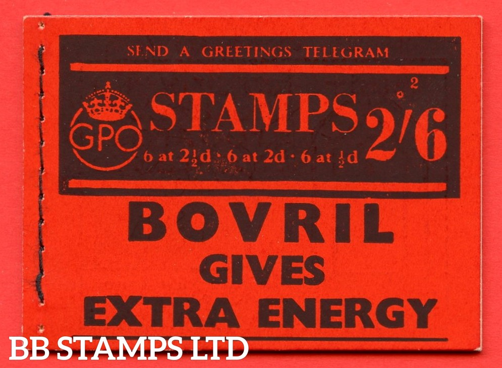 """SG. BD13. """" 2s 6d """". Edition number 2. A very fine complete example of this very scarce George VI booklet."""