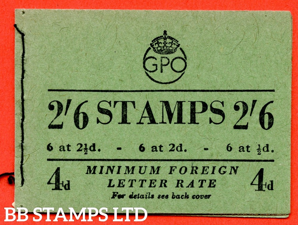 "SG. BD18 (88). "" 2/6 "". Edition number 88. February 1951. A very fine complete example of this George VI booklet."