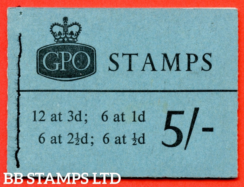 SG. H49p. 5/- Booklet. March 1961. PHOSPHOR. A very fine complete example of this scarce QEII booklet.