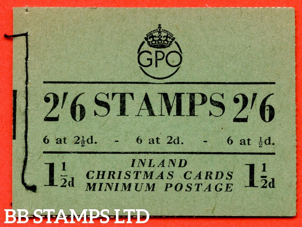 """SG. BD19 (6). """" 2/6 """". Edition number 6. October 1951.  A very fine complete example of this George VI booklet."""