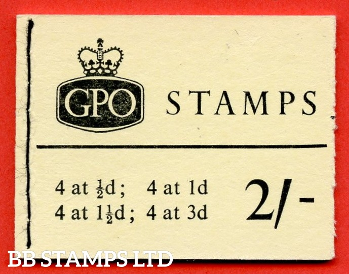 SG. N19pa. 2/-  1964 December. Error. 1d pane missing phosphor. With blue phosphor bands. Not listed in SG on this booklet
