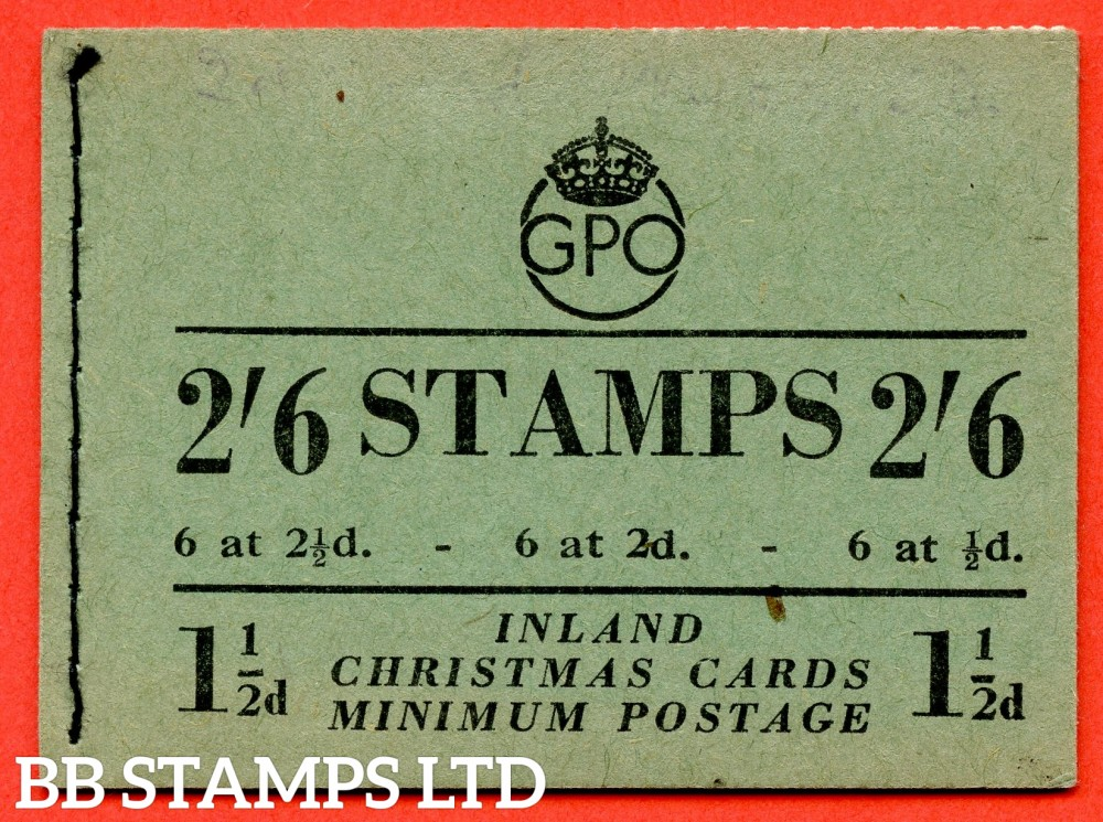 "SG. BD19 (8). "" 2/6 "". Edition number 8. December 1951.  A very fine complete example of this George VI booklet."