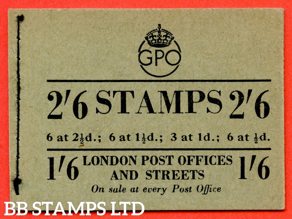 "SG. BD20. "" 2/6 "". Edition number 13. March 1953. A very fine complete example of this George VI booklet."