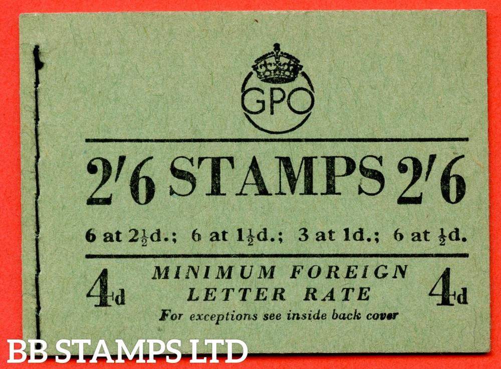 "SG. BD20. "" 2/6 "". Edition number 7. September 1952. A very fine complete example of this George VI booklet."