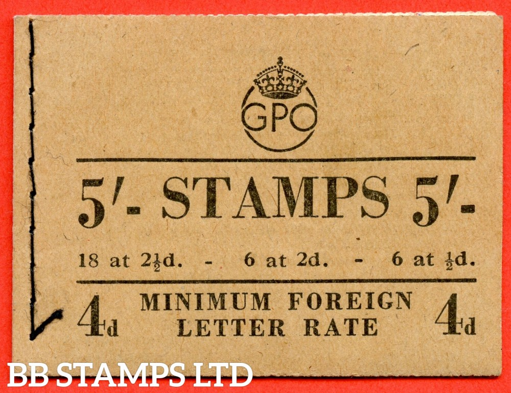 """SG. BD28 (49). """" 5/- """". December 1950. A very fine example of this George GVI booklet."""