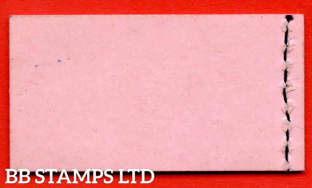 SG. BD2. 6d pink cover without interleaves. 2 x ½d 2 x 1d 2 x 1½d. A very fine complete booklet.