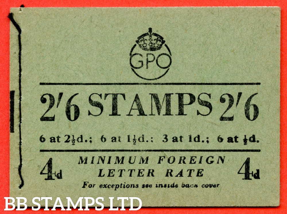 "SG. BD20. "" 2/6 "". Edition number 9. November 1952. A very fine complete example of this George VI booklet."