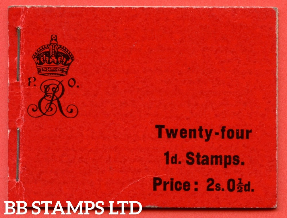 "SG. BA1. "" 2s 0½d "". A very fine complete example of this the first Edwardian booklet."