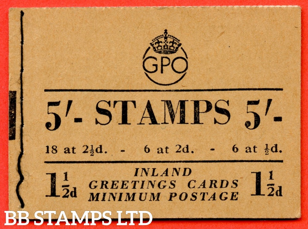 "SG. BD30 (5). "" 5/- "". Edition number 5. January 1952. George VI. A very fine example of this George VI booklet."