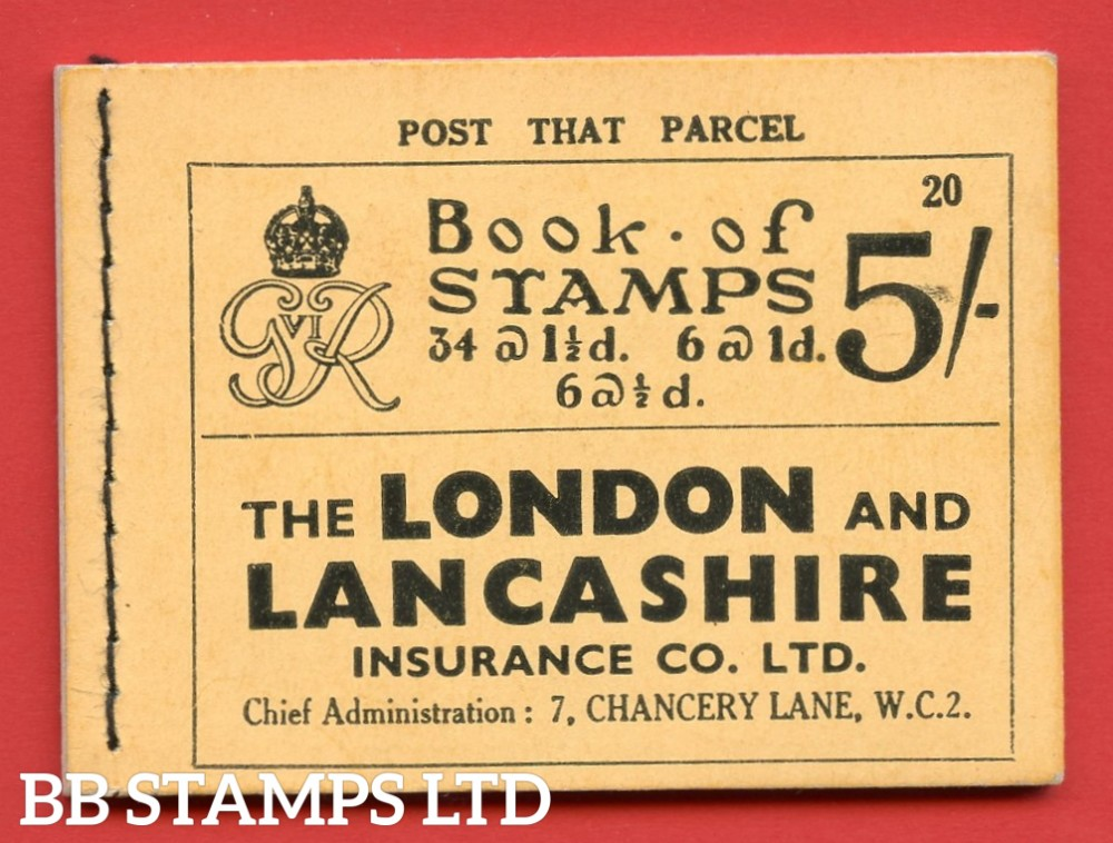 "SG. BD23. "" 5s "". Edition number 20. A very fine complete example of this very scarce George VI dark colours booklet."