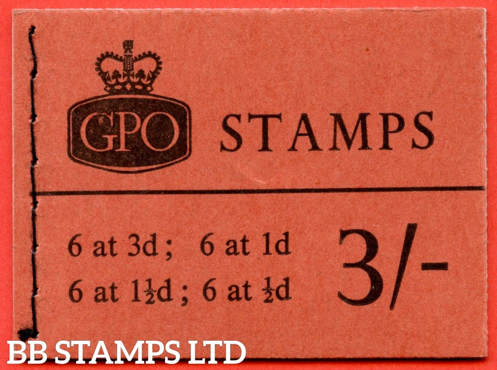 SG. M66p. 3/- Booklet. January 1964. PHOSPHOR. A very fine complete example of this QEII booklet.
