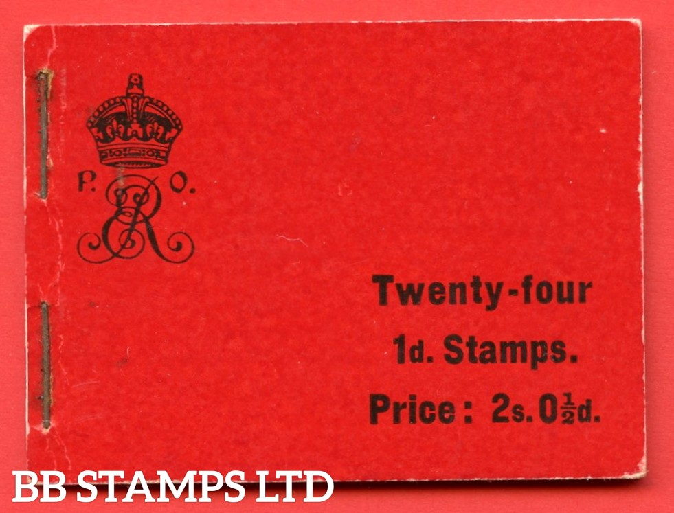"SG. BA1. "" 2s 0½d "". Edition number 1. A very fine complete example of this the first Edwardian booklet."