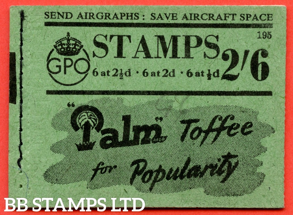 """SG. BD17. """" 2/6 """". Edition number 195. A very fine complete example of this very scarce George VI booklet."""
