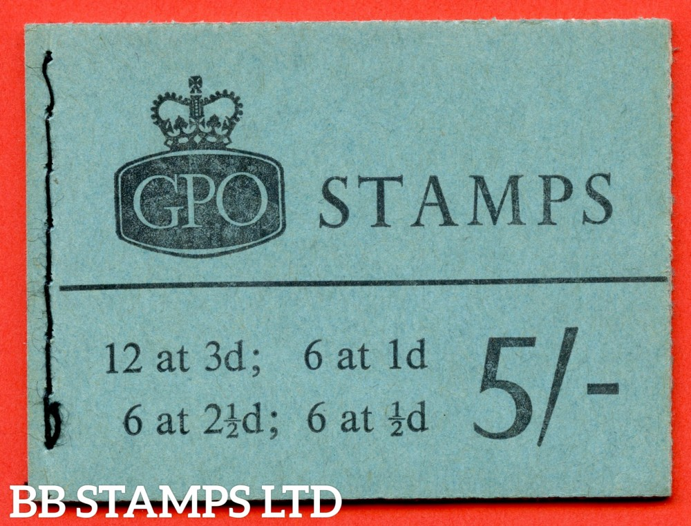 SG. H59p. 5/- Booklet. November 1962. PHOSPHOR. A very fine complete example of this scarce QEII booklet.